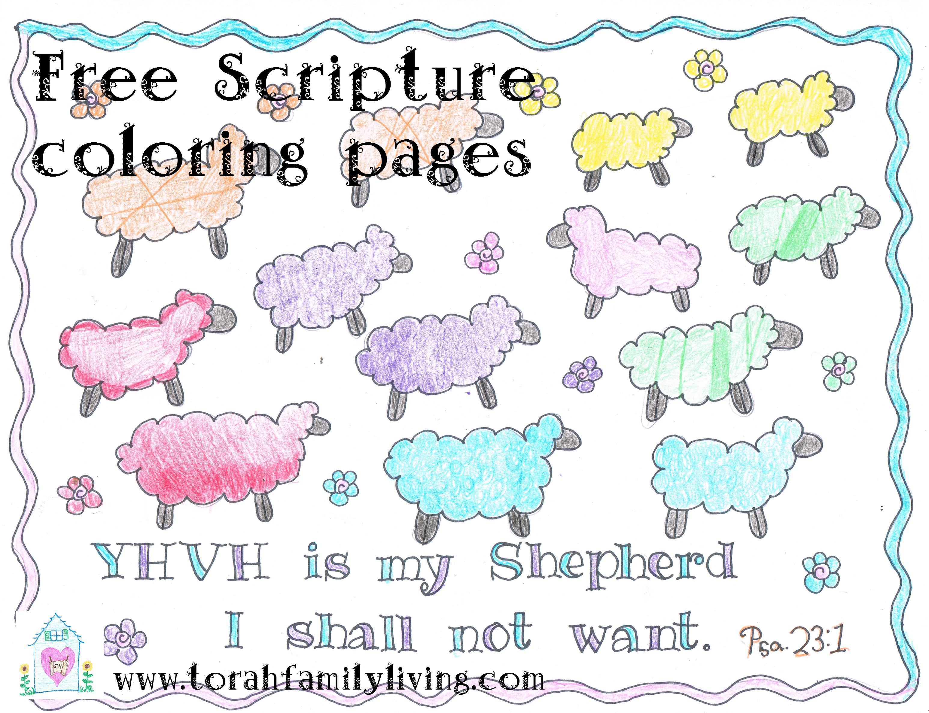 scripture coloring pages torah family living