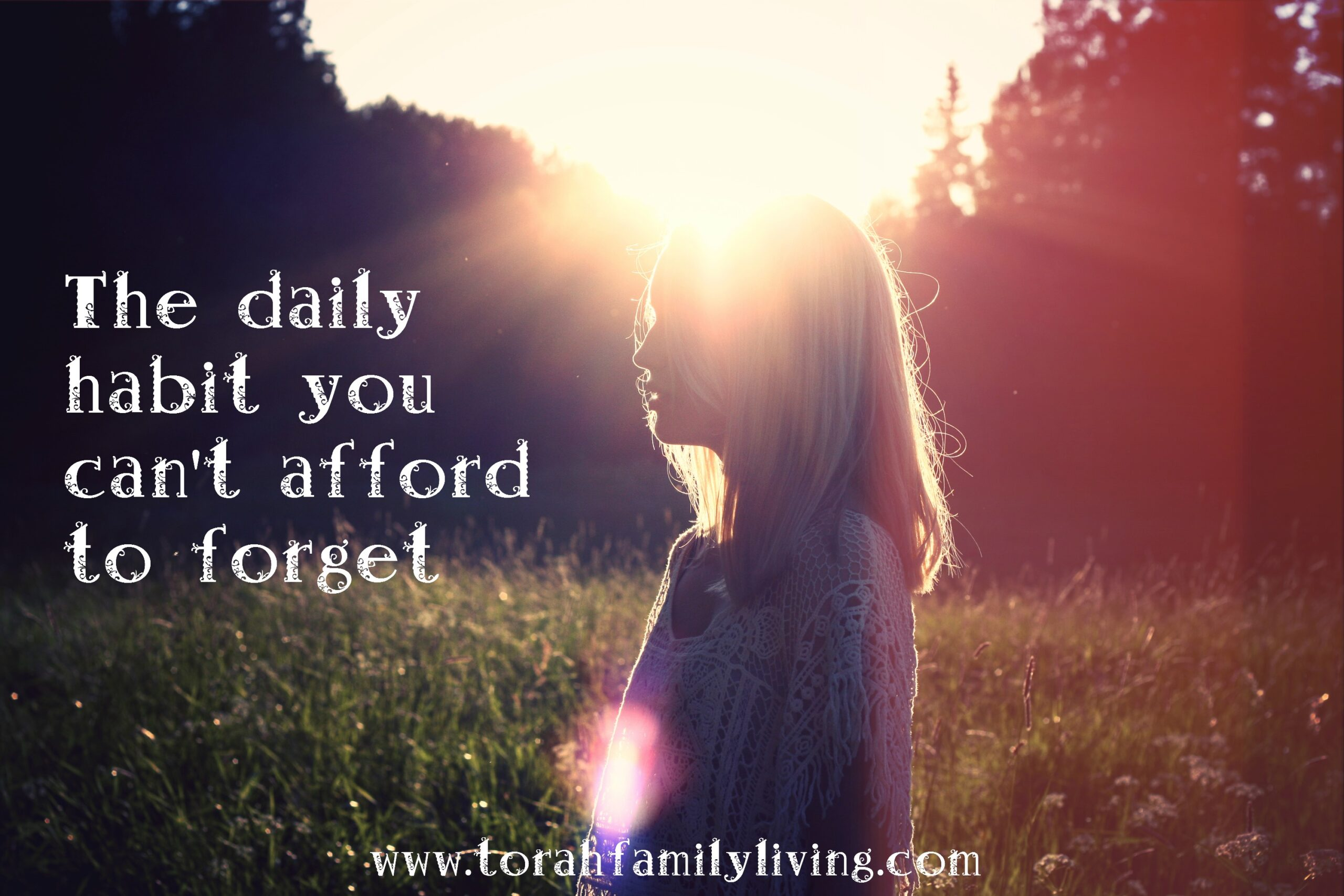 The daily habit you shouldn't forget