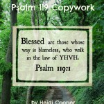 Psalm 119 copywork