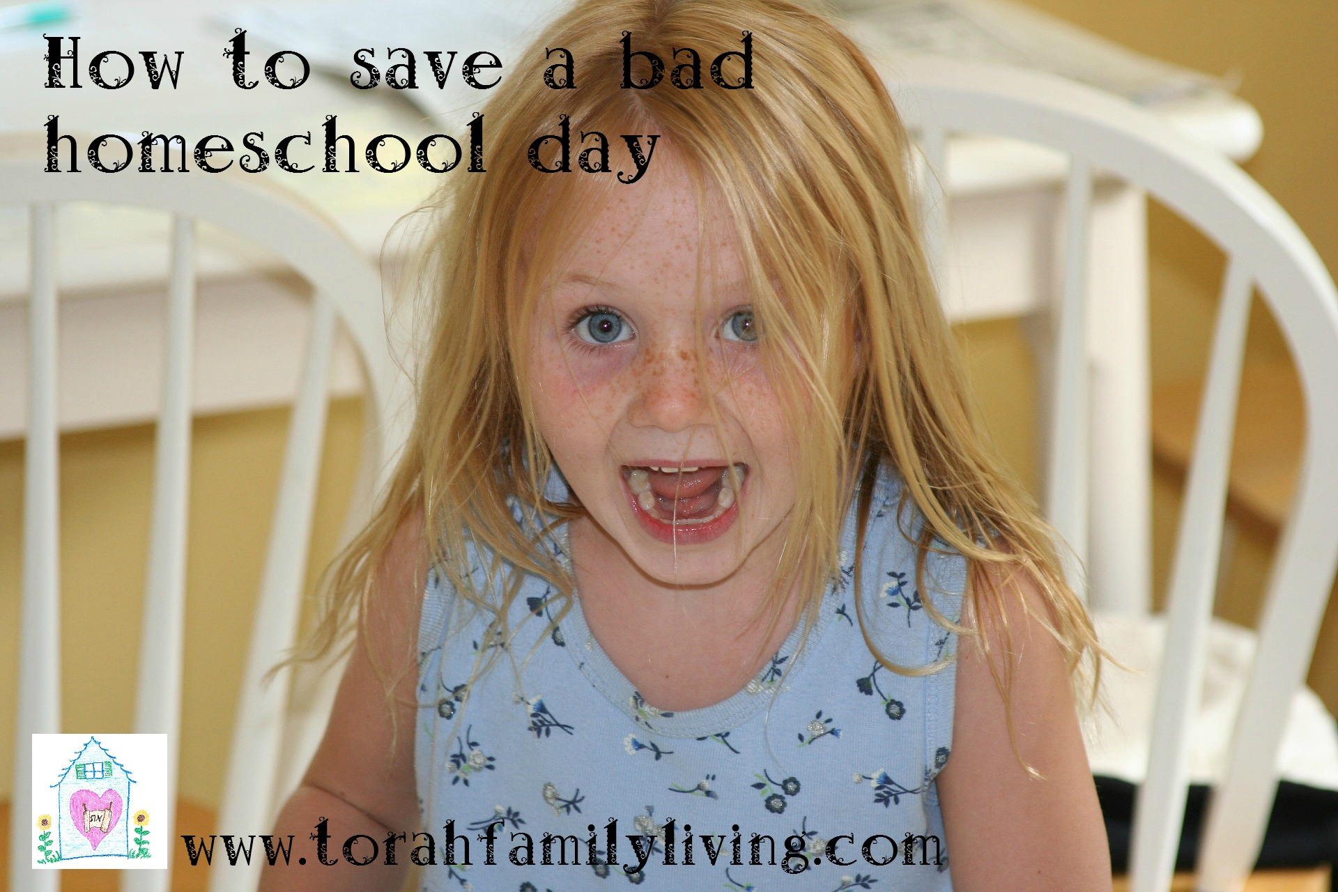 How to save a homeschool day gone bad