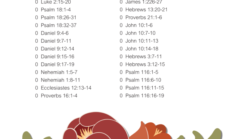 Scripture printable for November, free printable
