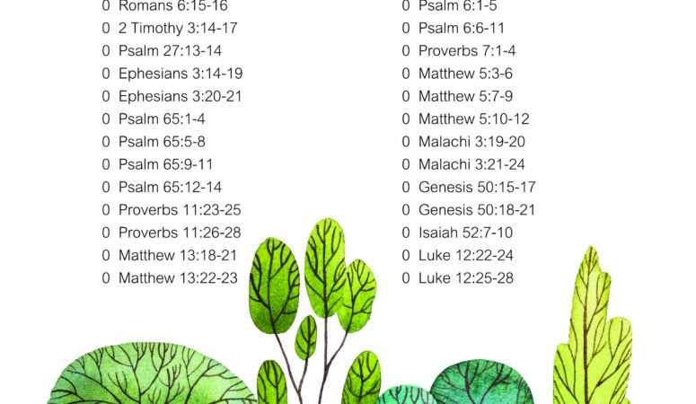 Free Scripture copywork verses for January