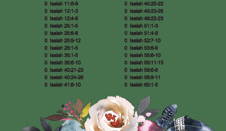 April copywork verses – Isaiah