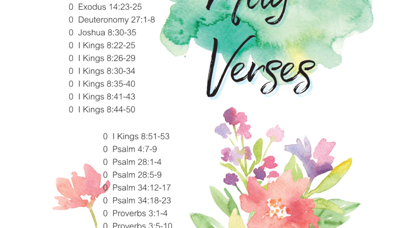 Verses on peace for May