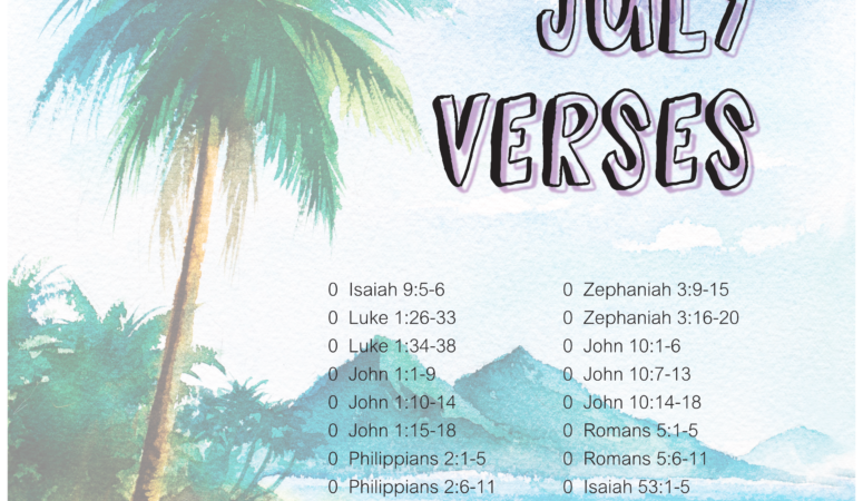 Verses on salvation for July