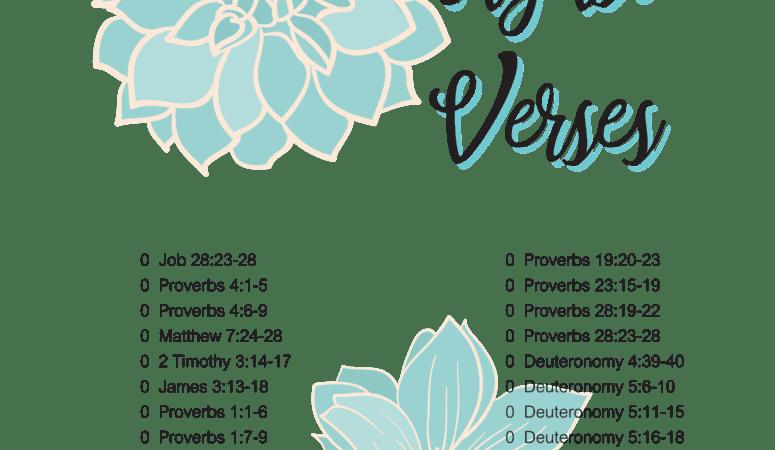 Wisdom in Scripture, August verses
