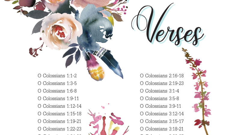 Journey through Colossians – verses for September